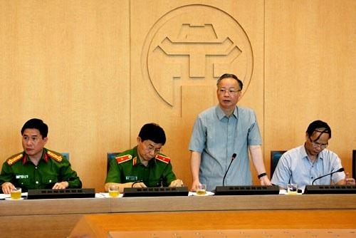 Ông Nguyễn Văn Sửu - Phó Chủ tịch UBND TP Hà Nội phát biểu chỉ đạo tại cuộc họp