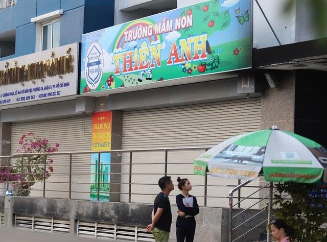 Trường mầm non Thiên Anh (cơ sở 1) - đóng tại chung cư Carina Plaza - tạm ngưng hoạt động sau vụ hỏa hoạn kinh hoàng