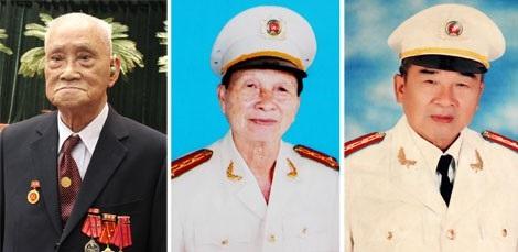 Từ trái qua: Đại tá Thái Doãn Mẫn, Đại tá Lê Văn Thiện, Đại tá Bùi Quang Hảo.