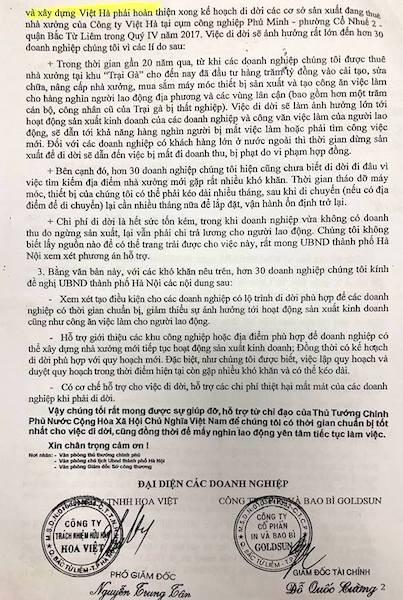 """Sở Công thương gửi giấy mời họp """"hỏa tốc"""" vụ gần 30 doanh nghiệp kêu cứu giữa thủ đô - 3"""