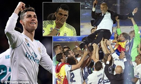 Real Madrid thắng Juventus 4-1 tại chung kết Champions League 2017 tại Cardiff