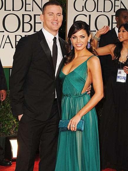 Jenna và Channing hút mọi ánh nhìn khi sánh đôi tại lễ trao giải Quả cầu vàng 2012 tại Beverly Hills.