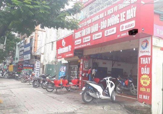 Tiệm sửa xe nơi xảy ra vụ việc