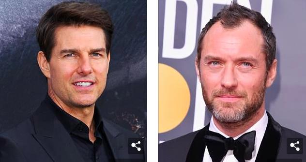 BS. Joshua Zuckerman cho biết nhiều người mang ảnh của Tom Cruise, trái, và Jude Law, phải, những người có sống mũi thẳng với đầu mũi hình củ hành