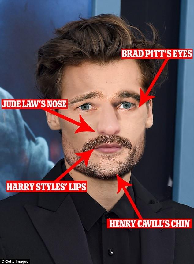 """Khuôn mặt """"chuẩn soái ca"""": Đây là sự kết hợp giữa mắt của Brad Pitt, môi của Harry Styles, mũi của Jude Law và cằm của Henry Cavill"""