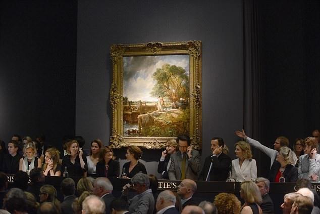 """Bức tranh sơn dầu """"The Lock"""" của danh họa John Constable từng được bán ra với giá 20 triệu bảng (hơn 636 tỷ đồng) cho một người mua ẩn danh tại một phiên đấu giá diễn ra ở London, Anh hồi năm 2012."""