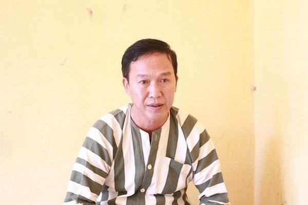 Đối tượng Nguyễn Thanh Hải tại cơ quan công an. (Ảnh: Công an cung cấp)