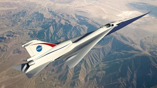 Mô phỏng đồ họa về hình dáng của chiếc X-plane. Ảnh: CNN