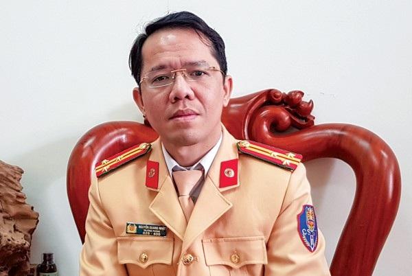 Thượng tá Nguyễn Quang Nhật - người phát ngôn Cục CSGT, Bộ Công an