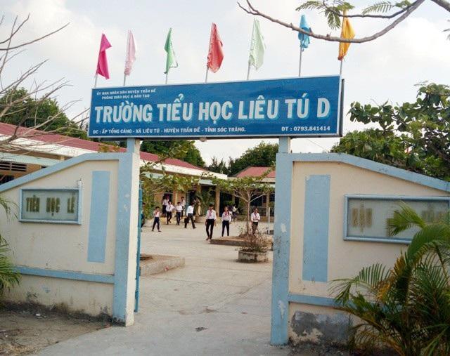 Trường Tiểu học Liêu Tú D, nơi giáo viên C.N.M. không giảng dạy nhưng vẫn nhận lương hàng tháng từ nhiều năm qua.