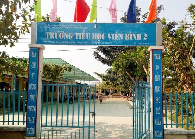 Trường Tiểu học Viên Bình 2, nơi thầy Đ.T. không dạy nhưng vẫn nhận lương.