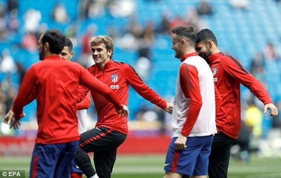 Griezmann và các đồng đội tự tin về cơ hội đánh bại đại kình địch Real Madrid