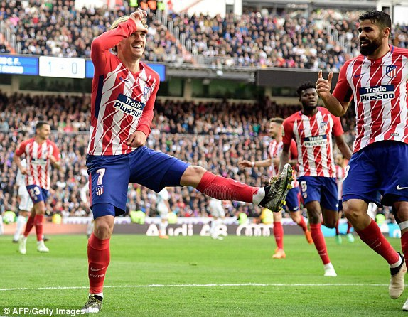 Griezmann gỡ hòa 1-1 cho Atletico ở phút 57