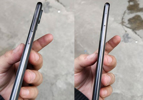 Từ 2 cạnh của máy, có thể thấy thiết kế có nhiều điểm tương đồng với một chiếc iPhone, từ đường viền được bo tròn mềm mại, cho tới cụm camera được làm lồi hơn so với bề mặt.
