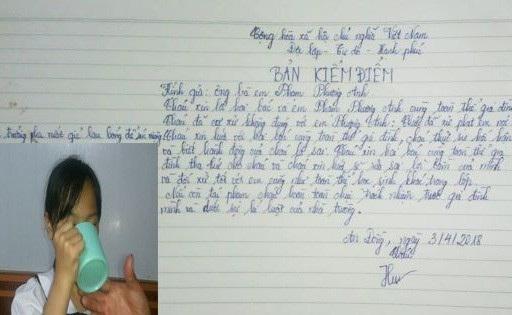 Cô giáo bắt học sinh uống nước vắt giẻ lau bảng ở Hải Phòng gây phẫn nộ dư luận