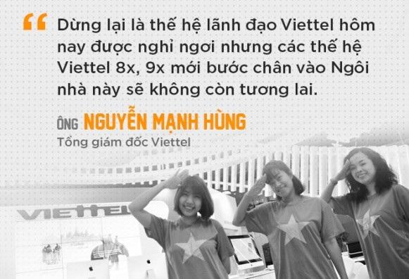 Cùng nhau, chúng ta xây dựng sự tự tin cho đội ngũ của mình. Cùng nhau, bằng trí tuệ và bàn tay lao động, người Viettel đã góp phần rất lớn xua tan mối nghi ngờ: liệu người Việt Nam có thể làm được những điều phi thường, ngang tầm thế giới. Cùng nhau, người Viettel đang làm Tập đoàn mạnh lên từng ngày.
