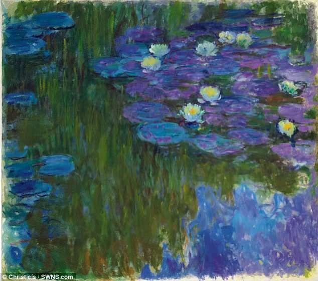 """Bức """"Nymphéas en Fleur"""" (Hoa súng nở) của danh họa người Pháp Claude Monet"""