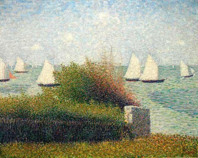 """Bức """"La Rade de Grandcamp"""" (Vịnh Grandcamp - 1885) của họa sĩ người Pháp Georges Seurat"""