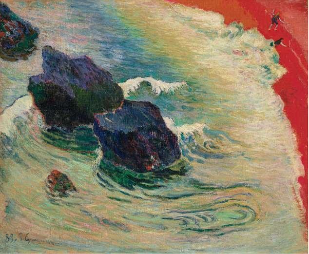 """Bức """"La Vague"""" (Con sóng - 1888) của danh họa người Pháp Paul Gauguin"""