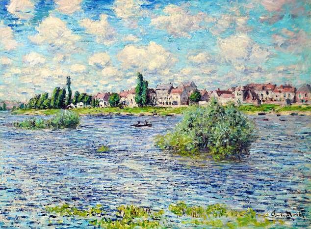 "Bức ""La Seine à Lavacourt"" (Sông Seine trước sân - 1879) của Claude Monet"