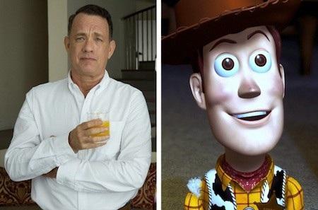 """Tom Hanks cũng góp phần tạo nên nhân vật hoạt hình kinh điển Sheriff Woody trong loạt phim """"Toy story"""""""