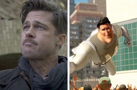 """Vẻ lãng tử của Brad Pitt quả thực rất hợp với Metro Man trong phim hoạt hình """"Megamind"""""""
