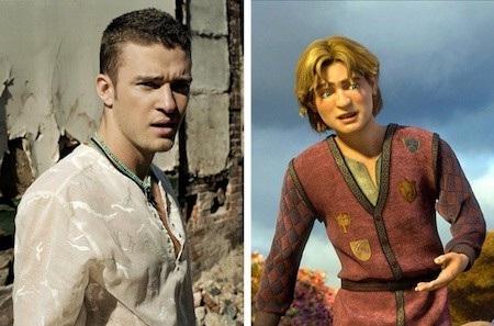 """Hoàng tử Artie trong """"Shrek the Third"""" có khuôn cằm quen thuộc đến lạ và """"trùng hợp"""" làm sao, khuôn cằm này cũng thuộc quyền sở hữu của nam ca sĩ Justin Timberlake"""