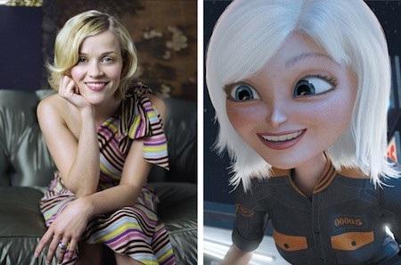 """Cô nàng Susan Murphy trong """"Monsters vs. Aliens"""" đích thị là được lấy cảm hứng từ nữ diễn viên Reese Witherspoon"""