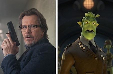 """General Grawl trong phim """"Planet 51"""" cũng ít nhiều giống với ngôi sao gạo cội Gary Oldman"""