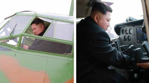 Nhà lãnh đạo Kim Jong-un từng được nhìn thấy ngồi trong buồng lái của máy bay quân sự (Ảnh: Rodong Sinmun)