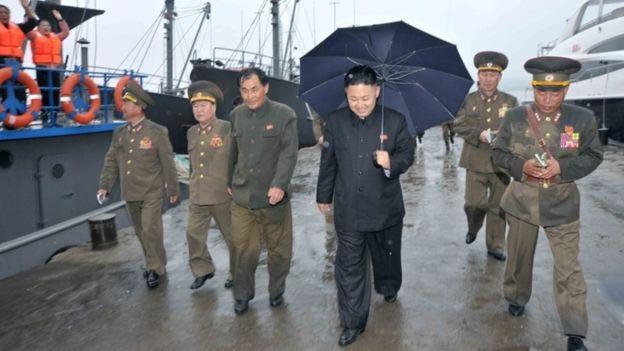 Hình ảnh du thuyền được cho là của ông Kim Jong-un được nhìn thấy trong bức ảnh do truyền thông Triều Tiên công bố năm 2013 (Ảnh: KCNA)