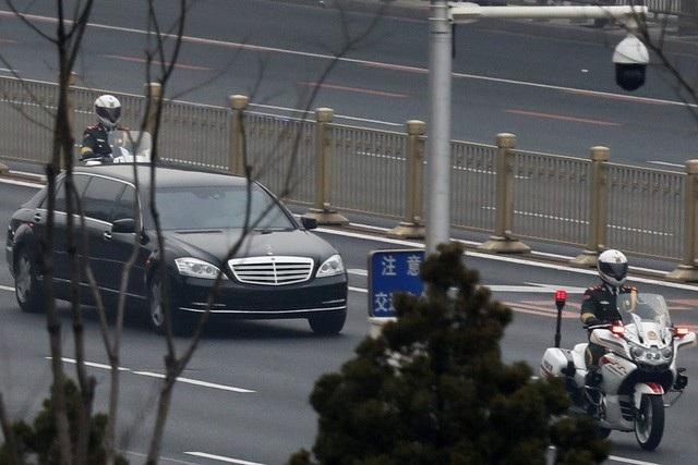Xe được cho là chở ông Kim Jong-un tại Bắc Kinh trong chuyến thăm Trung Quốc hồi tháng 3 (Ảnh: Reuters)
