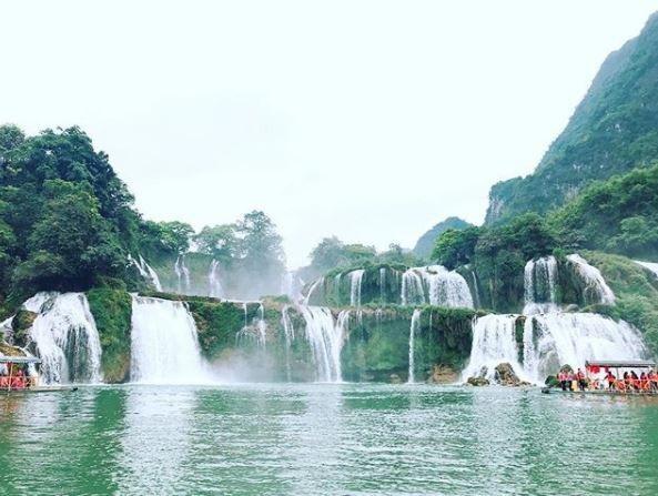 Thác Bản Giốc thuộc địa phận xã Đàm Thủy, huyện Trùng Khánh, tỉnh Cao Bằng được xem là một trong những thác nước lớn nhất Đông Nam Á và lớn thứ 4 thế giới trong số các thác nước nằm trên đường biên giới Quốc gia. Ảnh: @doanluong1994
