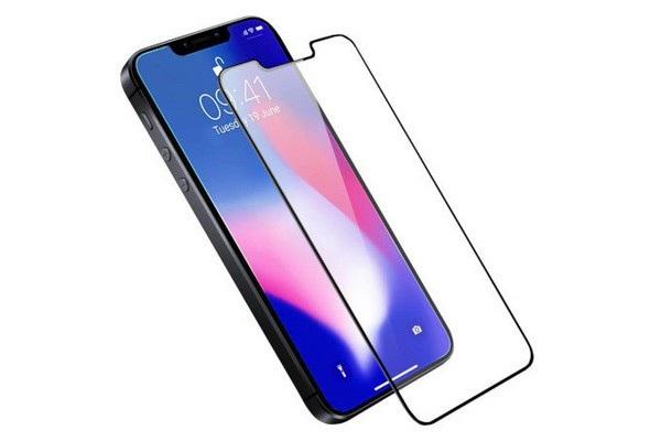 Hình ảnh tấm dán màn hình bảo vệ do Olixar sản xuất và thiết kế của iPhone SE 2018