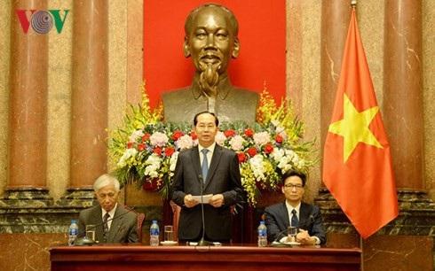 """Chủ tịch nước Trần Đại Quang đề nghị các nhà khoa học quốc tế tiếp tục ủng hộ Chương trình """"Gặp gỡ Việt Nam"""""""