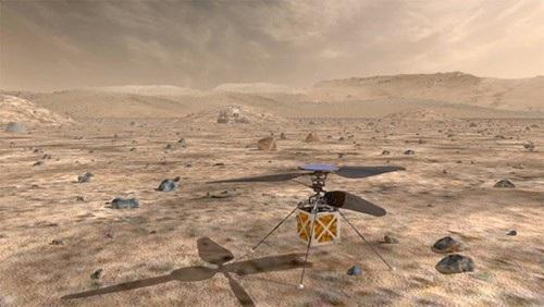 NASA thông báo kế hoạch đưa chiếc máy bay trực thăng không người lái phiên bản thu nhỏ đầu tiên lên sao Hỏa vào năm 2020. Ảnh: NASA/JPL-Caltech.