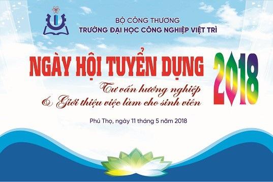 Trường Đại học Công nghiệp Việt Trì tổ chức Ngày hội tư vấn hướng nghiệp nghề - 1