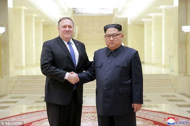 Ông Pompeo hội đàm 90 phút với nhà lãnh đạo Kim Jong-un hôm 9/5 (Ảnh: Reuters)
