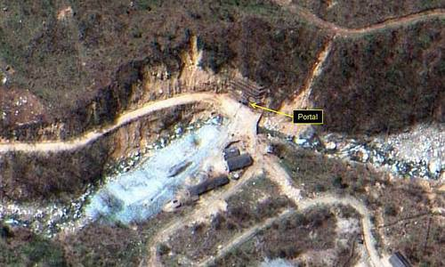 Bãi thử hạt nhân Punggye-ri của Triều Tiên (Ảnh: Yonhap)