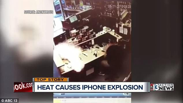 Chiếc iPhone bất ngờ phát nổ khi đang đặt trên bàn dù không có tác động nào từ bên ngoài