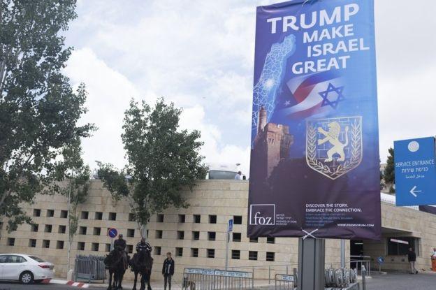 Lãnh sự quán Mỹ mở cửa hôm nay 14/5 tại Jerusalem (Ảnh: Getty)