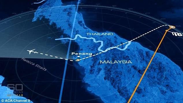 Phi công MH370 bất ngờ chuyển hướng máy bay bay qua thành phố quê nhà ở Penang, Malaysia. (Ảnh: ACA)
