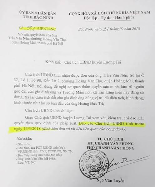 Tỉnh ủy - UBND tỉnh Bắc Ninh yêu cầu làm rõ khiếu nại của người dân.