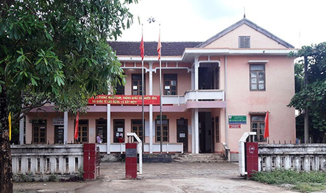 Trụ sở UBND xã Phúc Trạch, nơi ông Nguyễn Thanh Sơn đang được công tác sau khi bị khởi tố