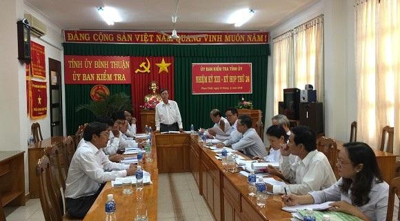 Trong kỳ họp thứ 24 của Ủy ban Kiểm tra Tỉnh ủy Bình Thuận, đơn vị này cho biết đang tiến hành xem xét, thi hành kỷ luật đối với 12 đảng viên có liên quan đến vụ án oan sai của ông Huỳnh Văn Nén.