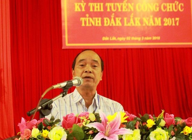 Ông Y Miêng Klơng – Giám đốc Sở Nội vụ Đắk Lắk, Phó Chủ tịch Hội đồng thi tuyển công chức tỉnh Đắk Lắk năm 2017 (ảnh cổng thông tin điện tử Đắk Lắk)
