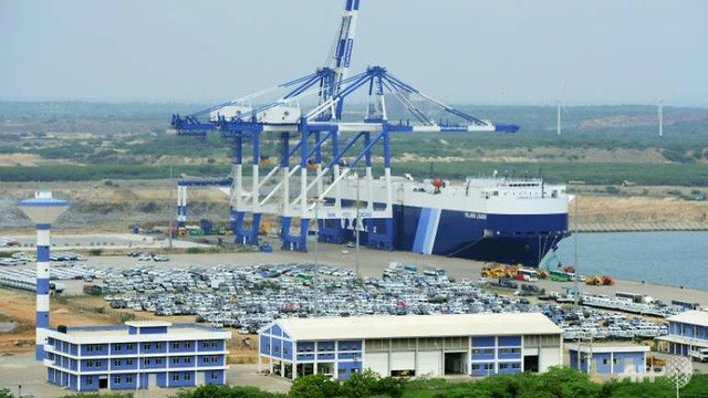 Cảng nước sâu Hambantota của Sri Lanka, công trình nước này cho Trung Quốc thuê 99 năm nhằm đổi lại hơn 1 tỷ USD trả nợ cho Trung Quốc (Ảnh minh họa: AFP)