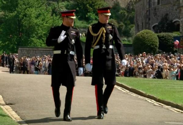 Hai hoàng tử trong khuôn viên lâu đài Windsor. (Ảnh: BBC)