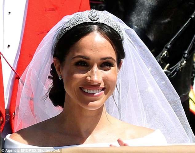 Cô dâu Meghan xinh đẹp trong ngày cưới (Ảnh: EFE)
