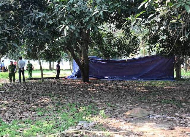 Hiện trường vụ án mạng xảy ra tại công viên bỏ hoang.